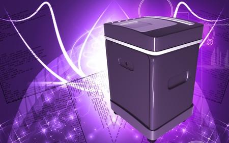 rectángulo: Ilustración digital de un triturador de tarjeta en fondo de color