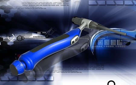 Digital illustration of weld craft in colour background  illustration