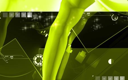 Digital illustration of hand in colour background Stock Illustration - 10174166