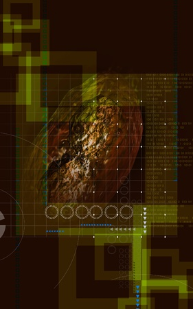 pox: Digital  illustration  of pox virus in   colour background