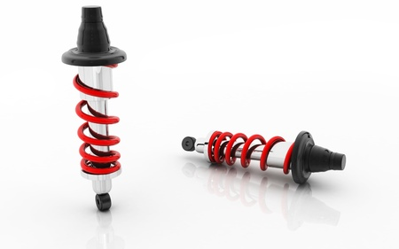 Digital illustration of Shock absorber in isolated background  illustration
