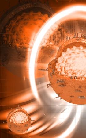 Digital illustration of  Hepatitis in  colour  background Stock Illustration - 10279892