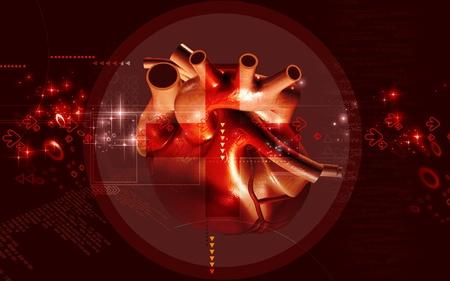 Digital illustration of  heart  in  colour  background Banco de Imagens - 10295770