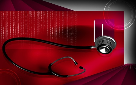 Digital illustration  of stethoscope  in colour background  illustration