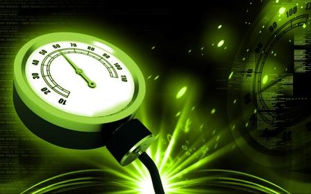 Digital illustration of sphygmomanometer in colour background Stock Illustration - 10316686