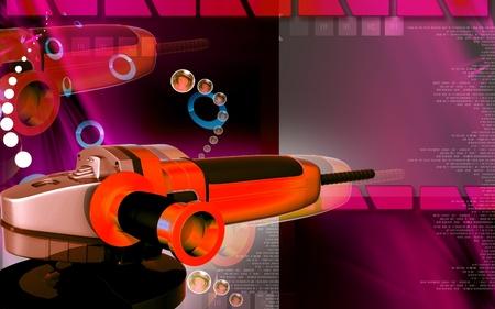 angle grinder: Digital illustration of angle grinder in colour background