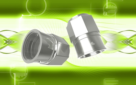 side effect: Digital illustration of Valve caps in colour background  Stock Photo