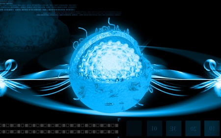 Digital illustration of  Hepatitis in  colour  background  illustration