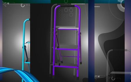 Digital illustration of ladder in colour background Stock Illustration - 10411375