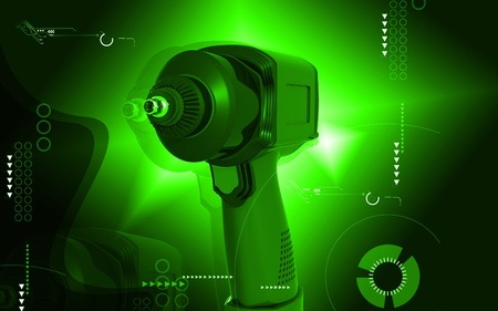 impact wrench: Digital illustration of impact wrench in colour background  Stock Photo