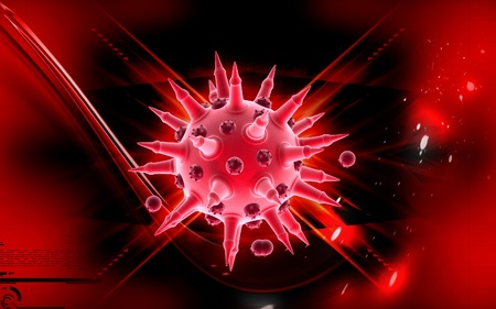 Digital illustration of  Flu virus in colour  background  Stock Illustration - 10433753