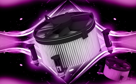 coolant: Digital illustration of Processor fan in colour background