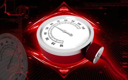 Digital illustration of sphygmomanometer in colour  background  Stock Illustration - 10457963