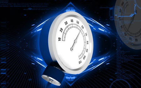 bp: Digital illustration of sphygmomanometer in colour  background   Stock Photo