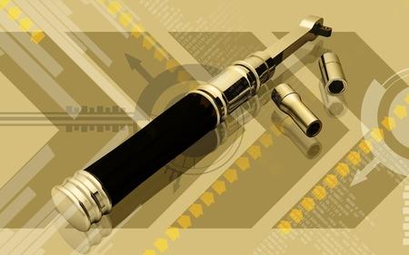 Digital illustration of ratchet tool in colour background  illustration