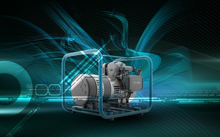Digital illustration of a generator  in colour background  illustration