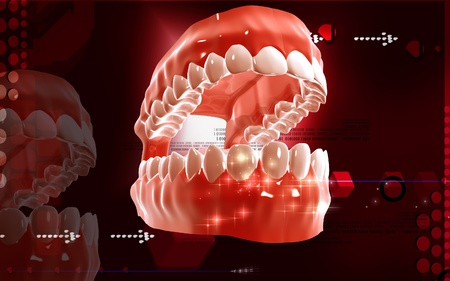 mouth opened: Digital illustration of  Mouth in colour background