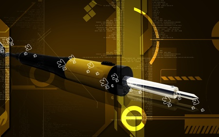 toll: Digital illustration of soldering toll in colour background   Stock Photo