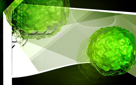 polio: Digital illustration of  Polio virus in colour  background