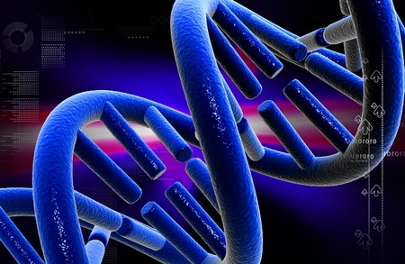 Digital illustration DNA structure in colour background   illustration