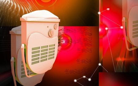 Digital illustration of bathroom fan heater in colour background Stock Illustration - 12155951