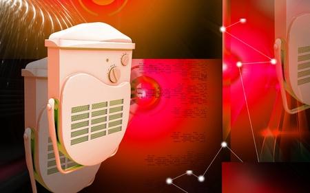 Digital illustration of bathroom fan heater in colour background Stock Illustration - 12155951