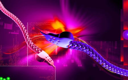 Digital illustration  of back bone in    colour background Stock Illustration - 12443483
