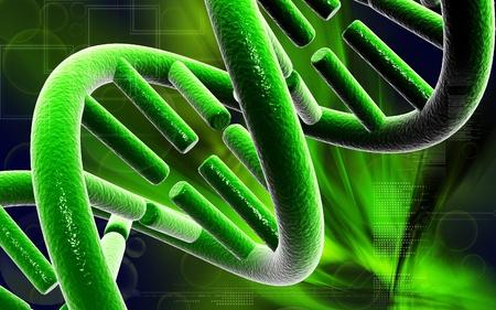 DNADigital illustration DNA structure in colour background Stock Illustration - 12443825