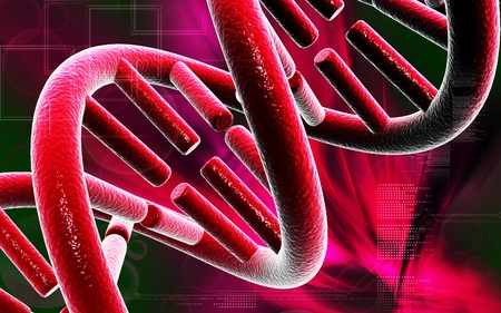 DNA Digital illustration DNA structure in colour background   illustration