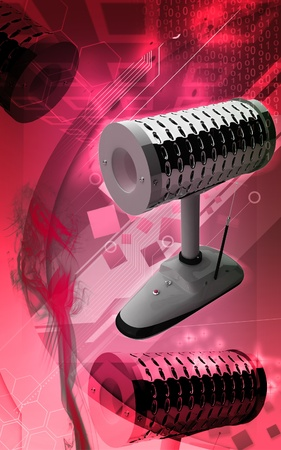 Digital illustration of dental implant  in colour background Stock Illustration - 12443915