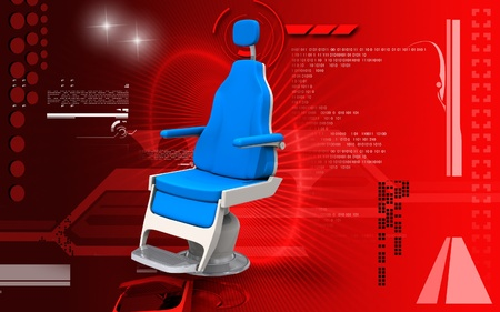 padded stool: Digital illustration of barbershop chair in colour background