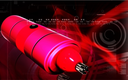 Digital illustration of nose and ear trimmer in colour background  illustration