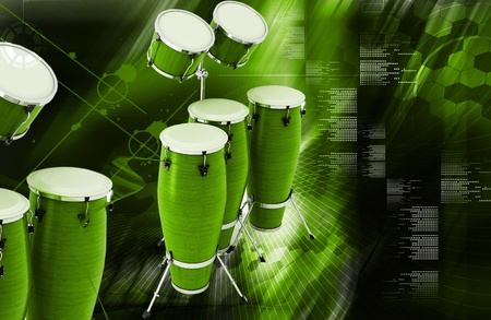 toca: Digital illustration of Congas toca in colour background