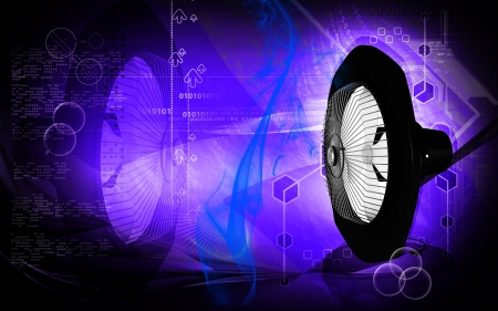 exhaust fan: Digital illustration of Exhaust fan in colour background
