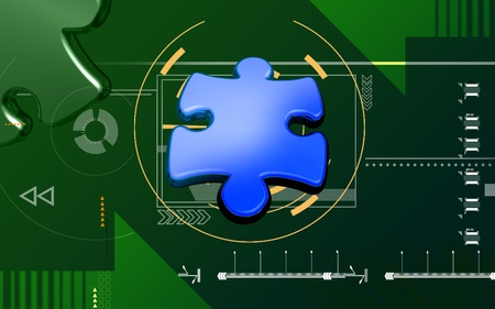 puzzle Digital illustration of puzzle sign in colour background  illustration