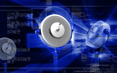 Digital illustration of operation  theatre light in colour background   illustration