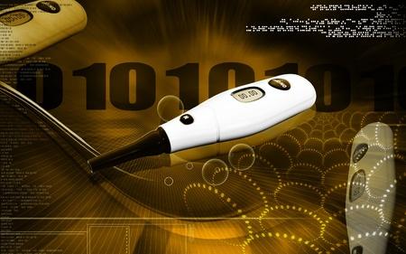 Digital illustration of  Glucosemeter  in  colour background  illustration