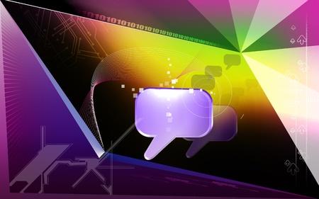 Digital illustration of talk icon in isolated background Stock Illustration - 12745597