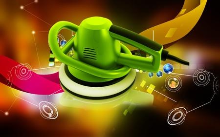 polisher: Digital illustration of Car polisher in colour background