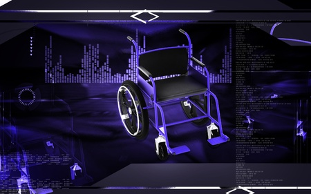 Digital Illustration of  wheel chair  in colour background Stock Illustration - 12745356