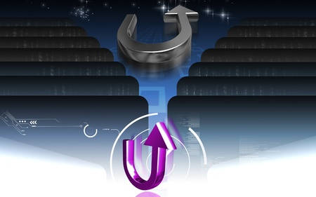 u turn sign: Digital illustration of  road sign in isolated background