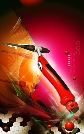 weld: Digital illustration of weld craft in colour background