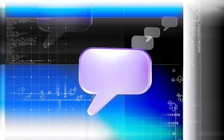 Digital illustration of talk icon in isolated background Stock Illustration - 13230261