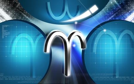 Digital illustration of Zodiac symbol in colour background  illustration