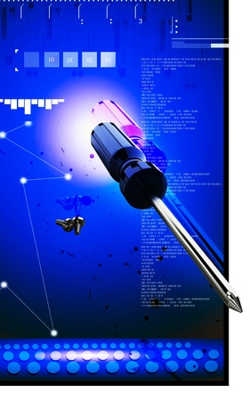 ScrewdriverDigital illustration of Screwdriver in colour background Stock Illustration - 13449300