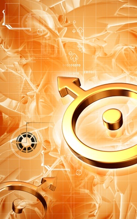 Digital illustration of planet  symbol in isolated background  illustration