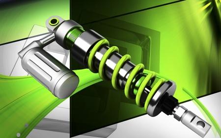 Digital illustration of Shock absorber in colour background Stock Illustration - 13525094