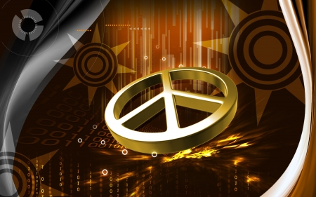 peace movement: Digital illustration of peace symbol in isolated  background