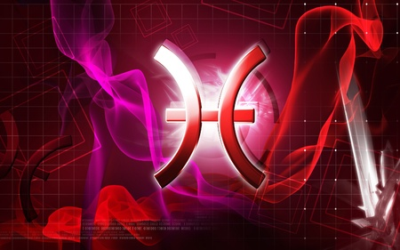 Digital illustration of Zodiac symbol in isolated background  illustration