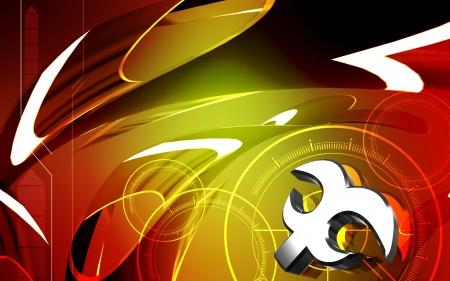 Digital illustration of atheist  symbol in isolated background  illustration